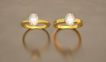 sammy plat - bague fiançailles diamant